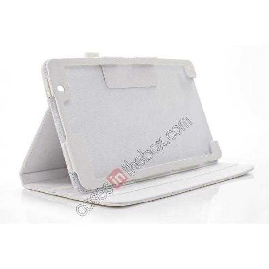 best price Litchi Texture Leather Stand Case with Holder for Samsung Galaxy Tab Pro 8.4 T320 - White