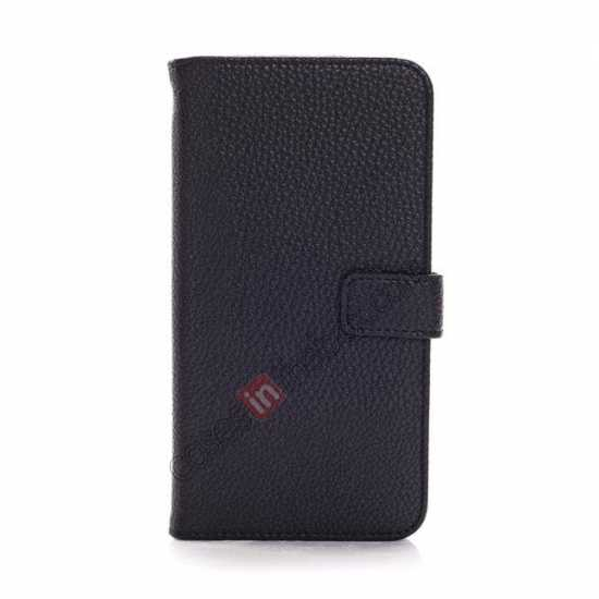 discount Litchi Wallet Leather Stand Case For Samsung Galaxy Grand 2 G7106 - Black