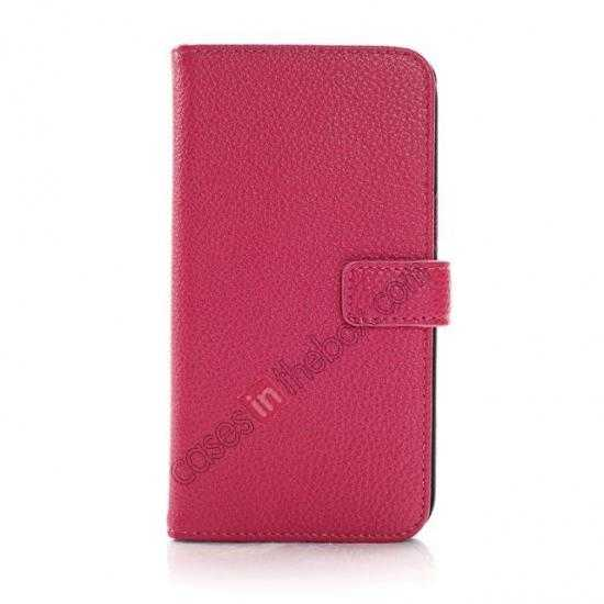 discount Litchi Wallet Leather Stand Case For Samsung Galaxy Grand 2 G7106 - Rose