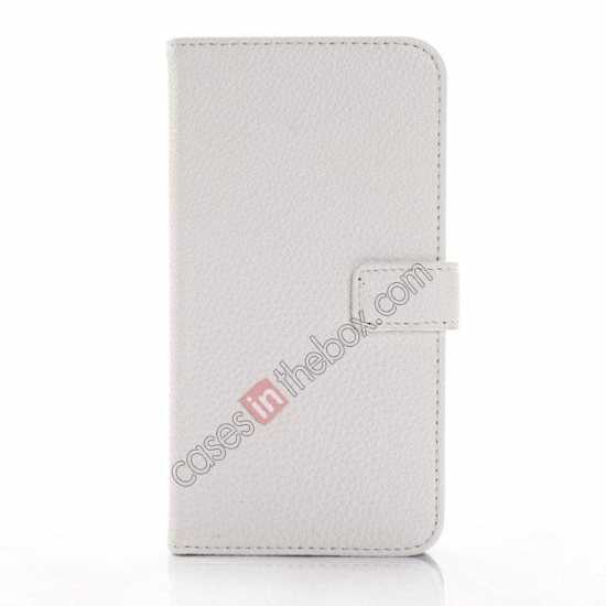 discount Litchi Wallet Leather Stand Case For Samsung Galaxy Grand 2 G7106 - White