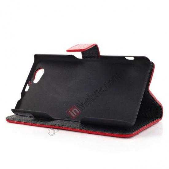 low price Litchi Wallet Leather Stand Case For Sony Xperia Z1 Mini/Z1 Compact/M51w - Black