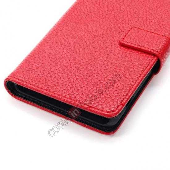 high quanlity Litchi Wallet Leather Stand Case For Sony Xperia Z1 Mini/Z1 Compact/M51w - Red
