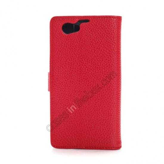 discount Litchi Wallet Leather Stand Case For Sony Xperia Z1 Mini/Z1 Compact/M51w - Red