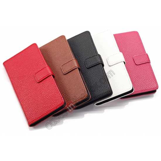China leading wholesale Litchi Wallet Leather Stand Case For Sony Xperia Z1 Mini/Z1 Compact/M51w - Red