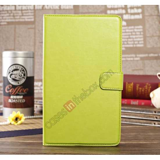 wholesale Luxury Crazy Horse Pattern Leather Stand Case for Samsung Galaxy Tab Pro 8.4 T320 - Green