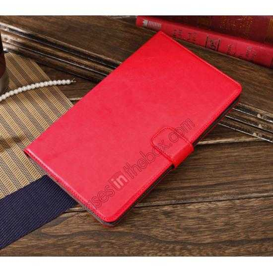top quality Luxury Crazy Horse Pattern Leather Stand Case for Samsung Galaxy Tab Pro 8.4 T320 - Red