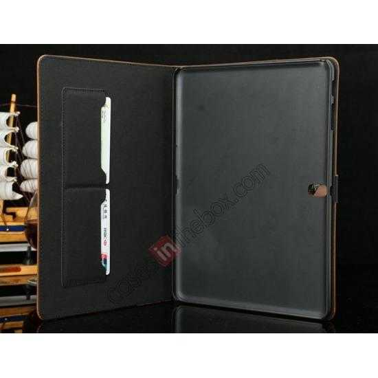 best price Luxury Crazy Horse Texture Leather Stand Case for Samsung Galaxy Tab Pro 10.1 T520 - Black