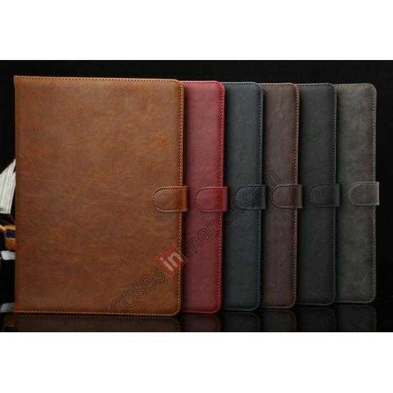 on sale Luxury Crazy Horse Texture Leather Stand Case for Samsung Galaxy Tab Pro 10.1 T520 - Brown