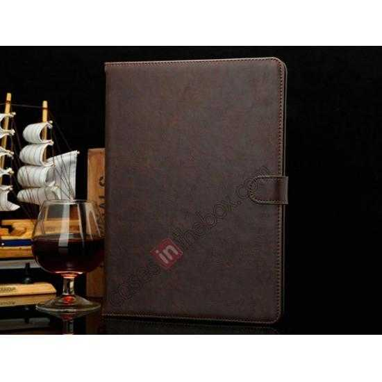 wholesale Luxury Crazy Horse Texture Leather Stand Case for Samsung Galaxy Tab Pro 10.1 T520 - Coffee