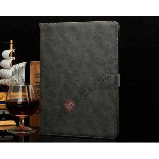 wholesale Luxury Crazy Horse Texture Leather Stand Case for Samsung Galaxy Tab Pro 10.1 T520 - Grey