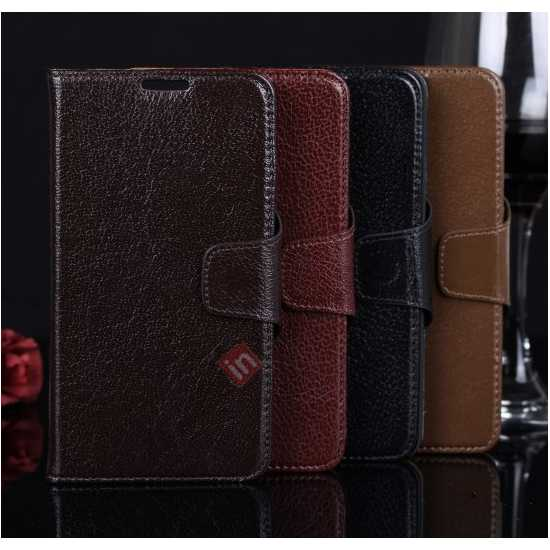 high quanlity Luxury Head Layer Cowhide Genuine Leather Case for Samsung Galaxy Note 3 III N9000 - Dark Brown