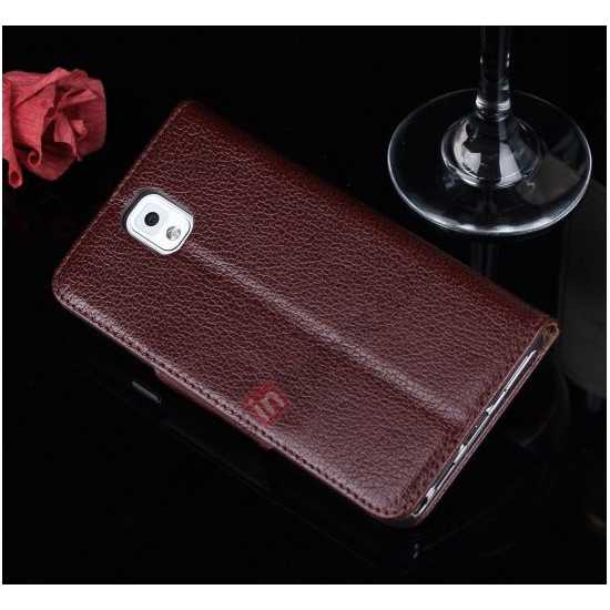 galaxy note 3 silicone case,cheap Luxury Head Layer Cowhide Genuine Leather Case for Samsung Galaxy Note 3 III N9000 - Wine Red