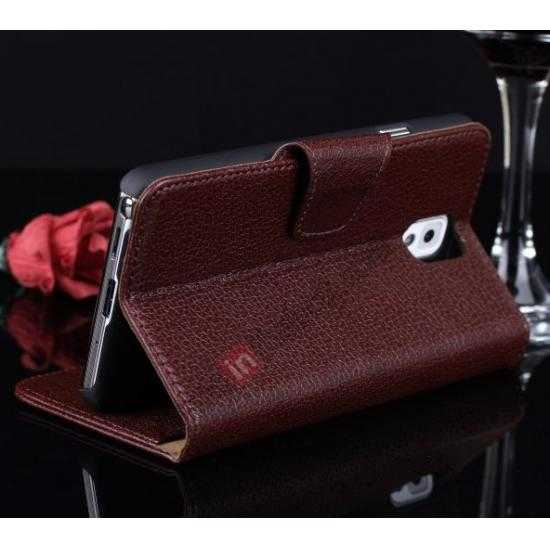 galaxy note 3 slim case,top quality Luxury Head Layer Cowhide Genuine Leather Case for Samsung Galaxy Note 3 III N9000 - Wine Red