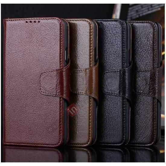 on sale Luxury Head Layer Cowhide Genuine Real Leather Case for Samsung Galaxy S5 G900 - Black