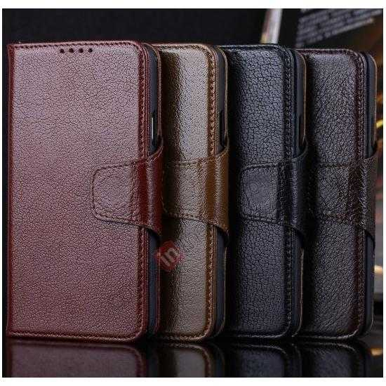 on sale Luxury Head Layer Cowhide Genuine Real Leather Case for Samsung Galaxy S5 G900 - Dark Brown