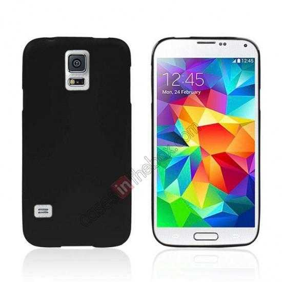wholesale Matte Frosted Soft TPU Gel Back Case Cover For Samsung Galaxy S5 - Black