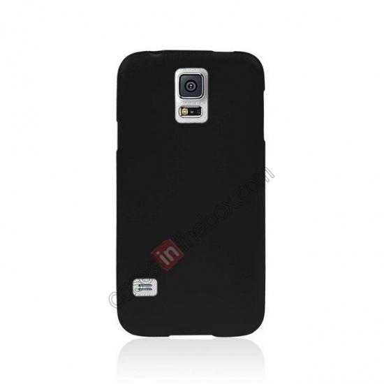 discount Matte Frosted Soft TPU Gel Back Case Cover For Samsung Galaxy S5 - Black