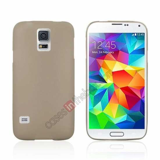 wholesale Matte Frosted Soft TPU Gel Back Case Cover For Samsung Galaxy S5 - Grey