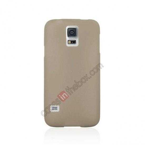 cheap Matte Frosted Soft TPU Gel Back Case Cover For Samsung Galaxy S5 - Grey