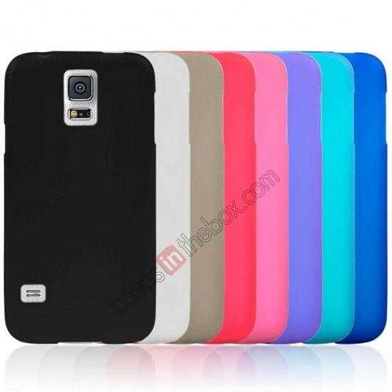 best price Matte Frosted Soft TPU Gel Back Case Cover For Samsung Galaxy S5 - Purple