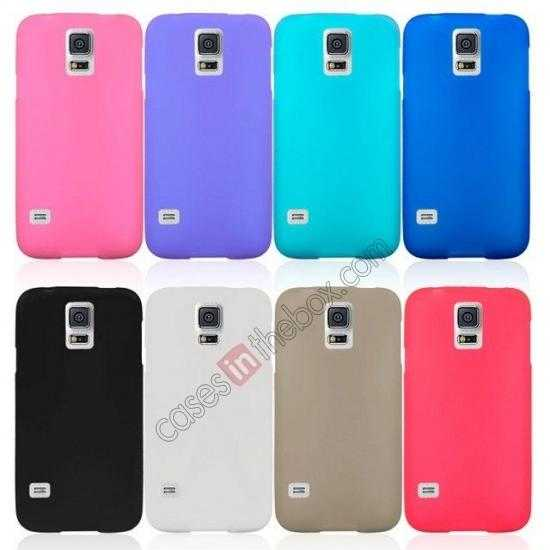 on sale Matte Frosted Soft TPU Gel Back Case Cover For Samsung Galaxy S5 - Purple