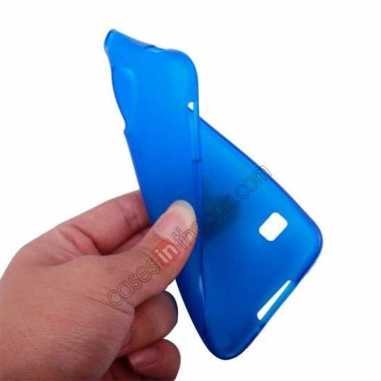 top quality Matte Frosted Soft TPU Gel Back Case Cover For Samsung Galaxy S5 - Sky Blue