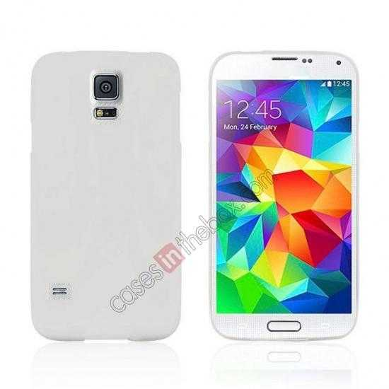 wholesale Matte Frosted Soft TPU Gel Back Case Cover For Samsung Galaxy S5 - White