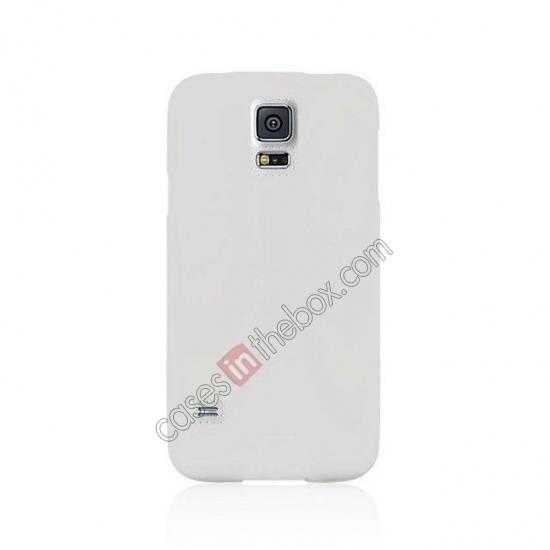 cheap Matte Frosted Soft TPU Gel Back Case Cover For Samsung Galaxy S5 - White