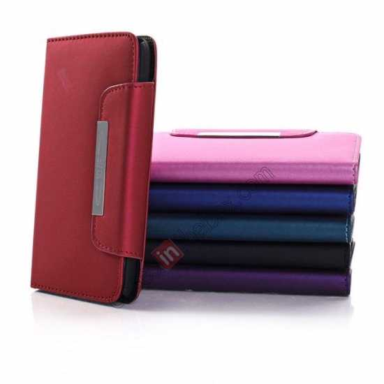 best price Matte Skin Leather Flip Wallet Case Cover for Samsung Galaxy S5 G900 - Red