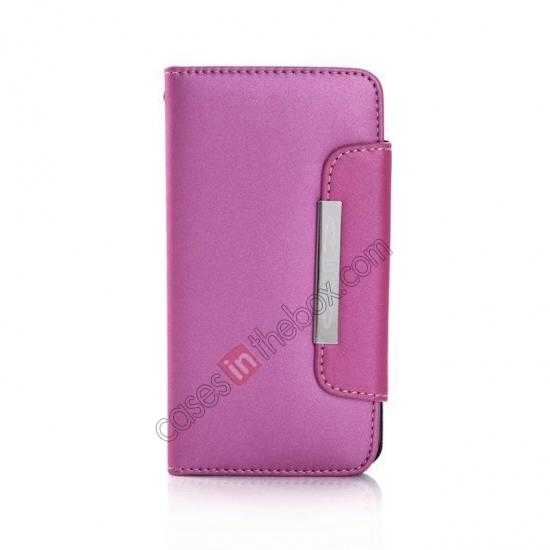 discount Matte Skin Leather Flip Wallet Case Cover for Samsung Galaxy S5 G900 - Rose