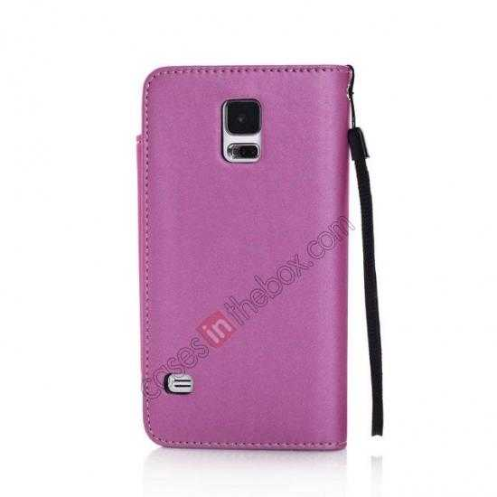 high quanlity Matte Skin Leather Flip Wallet Case Cover for Samsung Galaxy S5 G900 - Rose