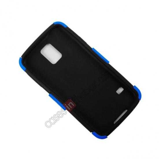 top quality Mesh Hard Hybrid Soft Silicone Back Cover Case For Samsung Galaxy S5 - Black