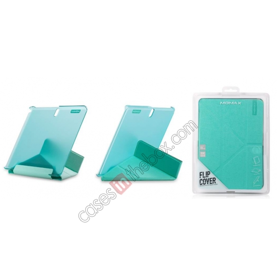top quality MOMAX Flip Cover Leather Stand Case For Samsung Galaxy Tab Pro 10.1 T520 - Light Blue