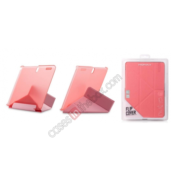 top quality MOMAX Flip Cover Leather Stand Case For Samsung Galaxy Tab Pro 10.1 T520 - Pink