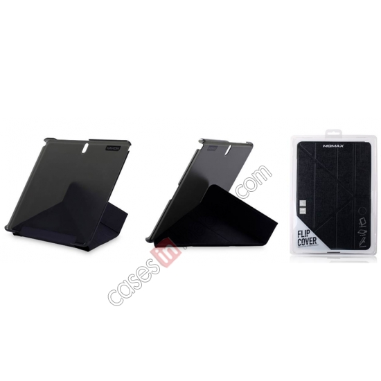 top quality MOMAX Flip Cover Leather Stand Case For Samsung Galaxy Tab Pro 12.2 P900 - Black