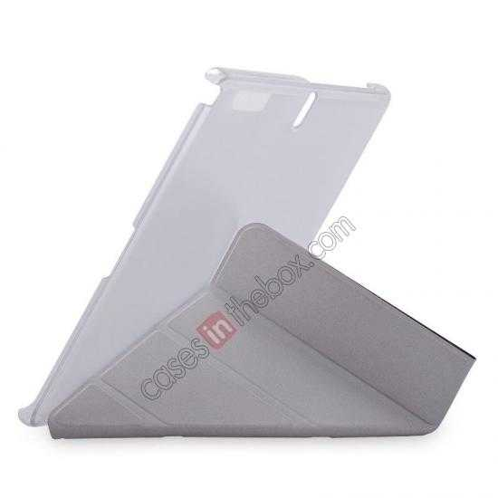 discount MOMAX Flip Cover Leather Stand Case For Samsung Galaxy Tab Pro 12.2 P900 - Silver Grey