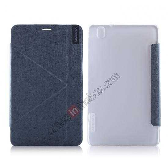 wholesale MOMAX Flip Cover Protective Leather Stand Case For Samsung Galaxy Tab Pro 8.4 T320 - Silver Grey