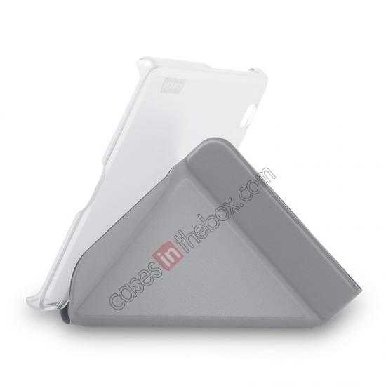 cheap MOMAX Flip Cover Protective Leather Stand Case For Samsung Galaxy Tab Pro 8.4 T320 - Silver Grey