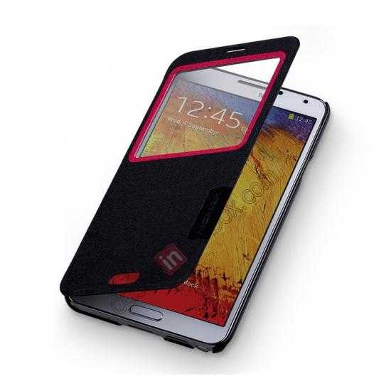 on sale Momax Flip View Window Leather Case for Samsung Galaxy Note 3 - Black