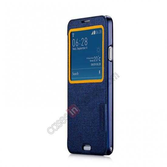 discount Momax Flip View Window Leather Case for Samsung Galaxy Note 3 - Dark Blue