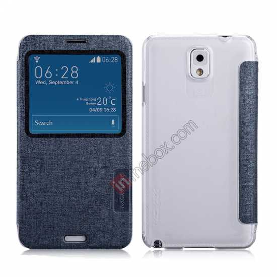 wholesale Momax Flip View Window Leather Case for Samsung Galaxy Note 3 - Grey