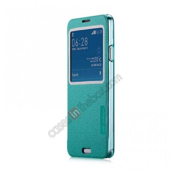 discount Momax Flip View Window Leather Case for Samsung Galaxy Note 3 - Light Blue