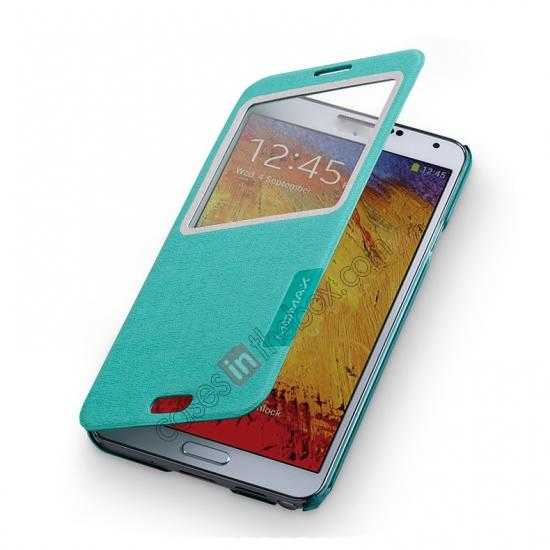 on sale Momax Flip View Window Leather Case for Samsung Galaxy Note 3 - Light Blue