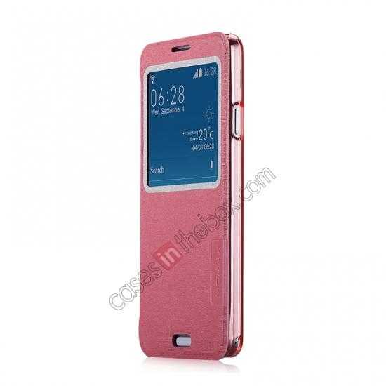 discount Momax Flip View Window Leather Case for Samsung Galaxy Note 3 - Pink