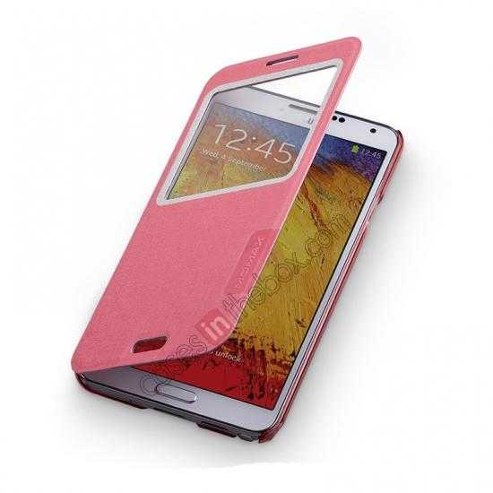 on sale Momax Flip View Window Leather Case for Samsung Galaxy Note 3 - Pink