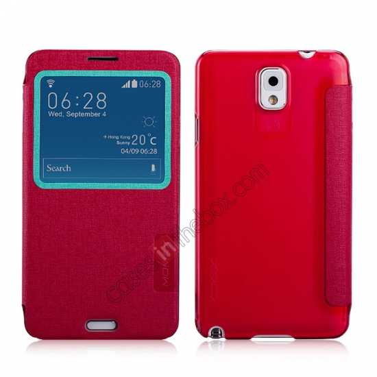 wholesale Momax Flip View Window Leather Case for Samsung Galaxy Note 3 - Red