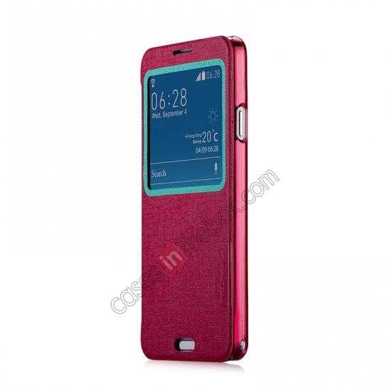 discount Momax Flip View Window Leather Case for Samsung Galaxy Note 3 - Red