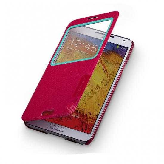 on sale Momax Flip View Window Leather Case for Samsung Galaxy Note 3 - Red