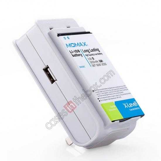 wholesale Momax For Samsung Galaxy Note 3 Battery Charger + 3200mAh Battery