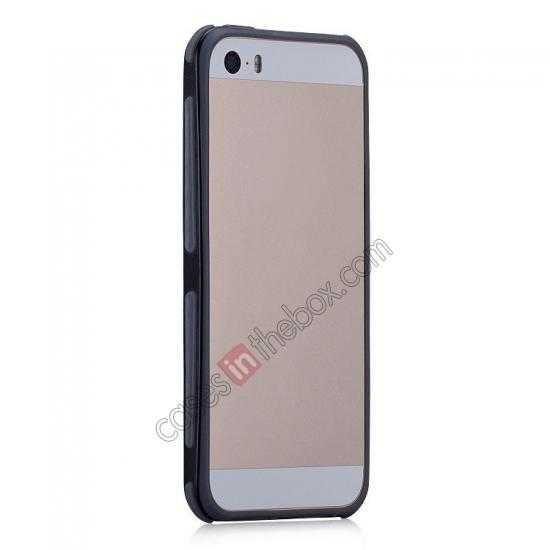 discount Momax Slender PC+TPU Bumper for Apple iPhone 5S/5 - Black